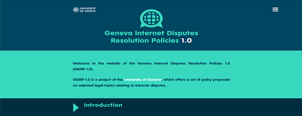 The Geneva Internet Dispute Resolution Policies